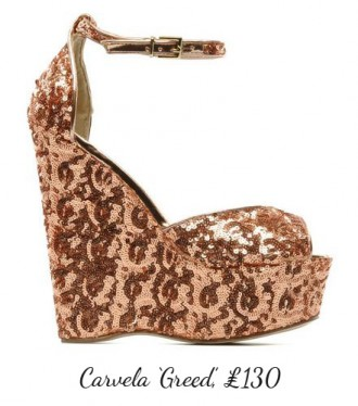 Carvela Greed glitter wedges