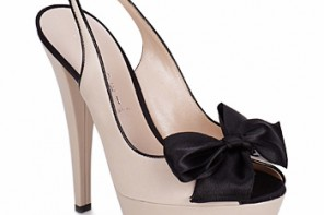 Casadei black and white peep toes