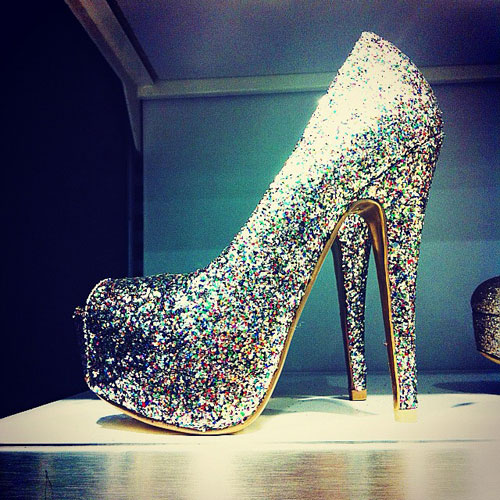 glitter shoes