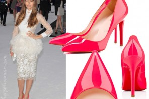 Jessica Biel in Christian Louboutin's Pigalle
