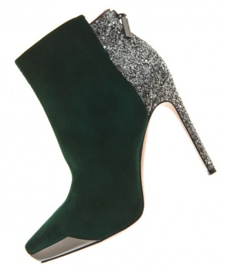 Rachel Roy green suede ankle boots