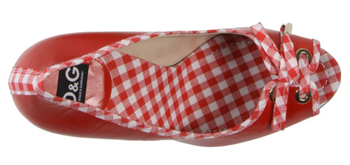 red gingham peep toes