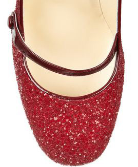 d8c241fe8f02 Jimmy Choo  Trust  red glitter Mary Janes   Shoeperwoman