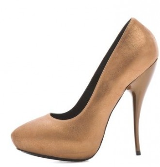 viktor & rolf gold high heel pumps