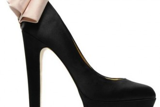 Ted Baker 'Oaker' black embellished heel platform pumps