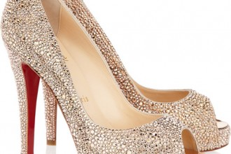 Christian Louboutin Very Riche 120 Swarovski crystal suede pumps