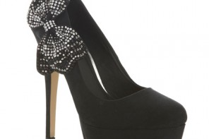 Miss Selfridge star embellished bow heels