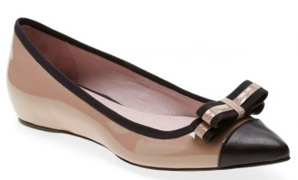 cap toe bow flats