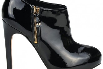 Carvela start black patent shoe boots