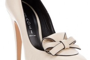 Casadei white platform bow pumps