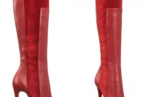 Christian Louboutin red YSA heeled knee boots