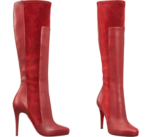 new concept c9022 5fa2c Friday Fix: Christian Louboutin red YSA heeled knee boots ...