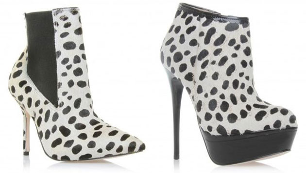 dalmatian print ankle boots