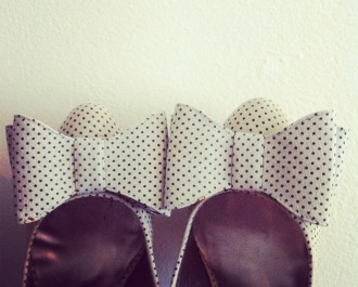 Miss Selfridge bow toe shoes