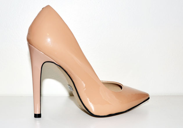Buffalo 'Beyza' nude patent court shoes