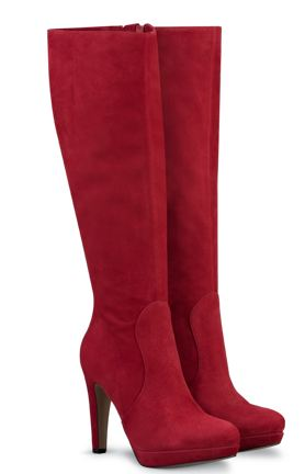 red suede knee boots