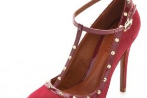 schutz fiona studded t bar shoes