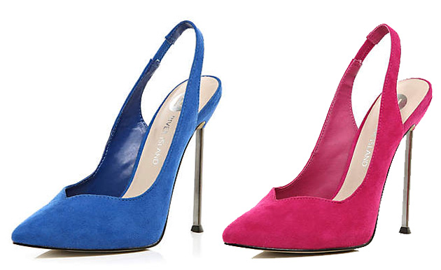 sweetheart slingbacks