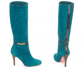 teal suede boots