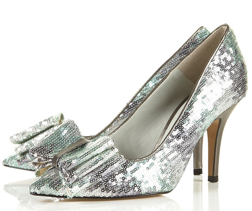 Topshop 'Gaggle2' pointed toe sequin court shoes