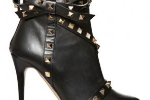 Valentino 100mm rock stud bow boots