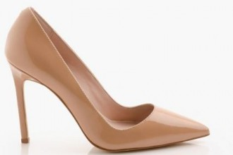 'Kathryn' leather pointed toe court shoes