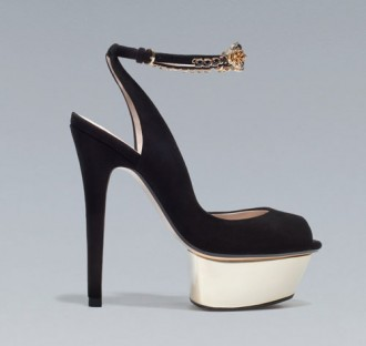 Zara jewelled slingbacks with ankle straps