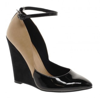 ASOS 'Prissy' two tone wedge pumps