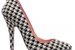 betsey johnson houndstooth high heels