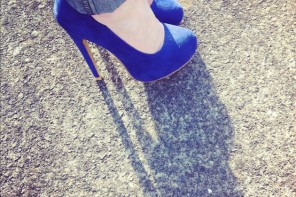 blue platform shoes