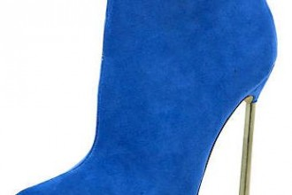 blue pointed ankle boots