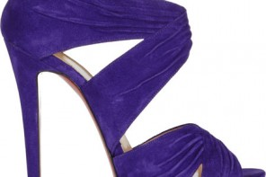 Christian Louboutin Bandra 140 ruched suede sandals