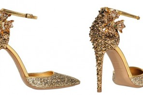 DSquared2 110MM lalique studs and flower pumps