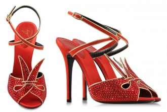 Giuseppe Zanotti red crystal Summertime sandals