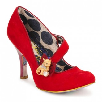 Irregular Choice red 'Whiskers' heels