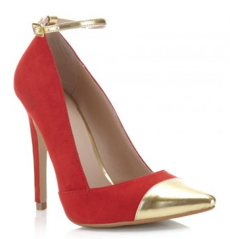 Miss Selfridge 'Starry Night' red point court shoes