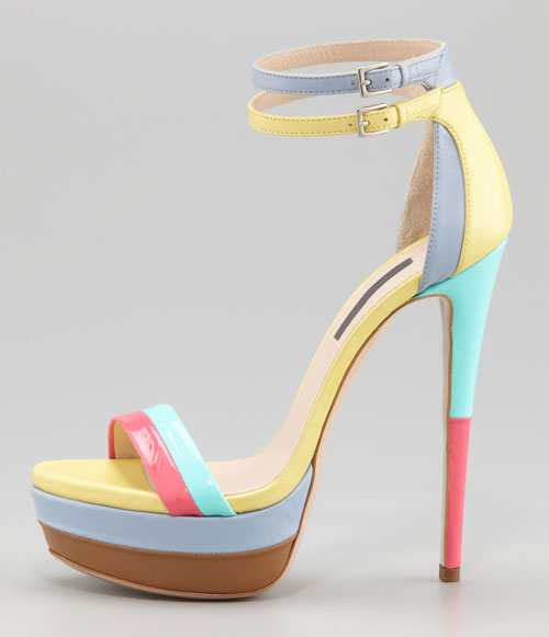 26968be150b2 Ruthie Davis West Palm Patent Platform Sandals   Shoeperwoman