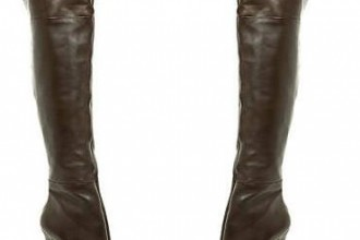 Dark brown over-the-knee boots