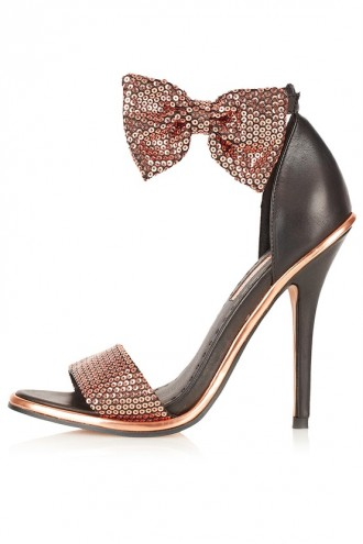 Topshop 'Rule' strappy bow sandals