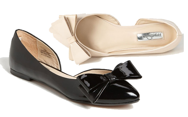 Halogen 'Manda' flats with bow