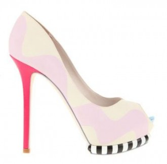 a4c42addc619 Sophia Webster multicolour peep toes with stripe platform