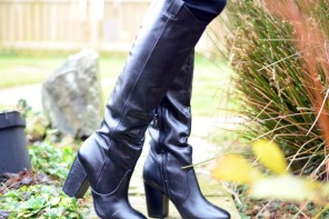 suedette knee high boots from barratts gt shoeperwoman