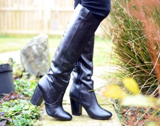 Sam Edelman black 'Tucker' knee high boots