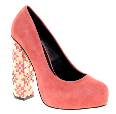 ASOS PULSE suede pumps with cut-out heel