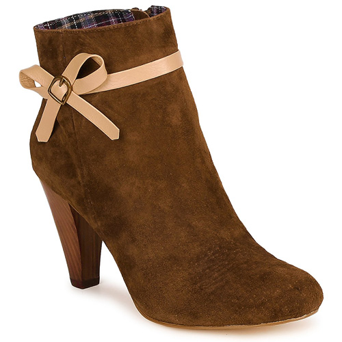 Chocolate Schubr brown suede 'Pebbie' ankle boots