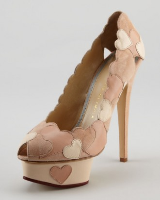 Charlotte Olympia Love Me Heart-Applique Pump