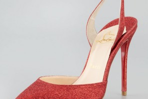Ever Glitter Halter Red Sole Pump