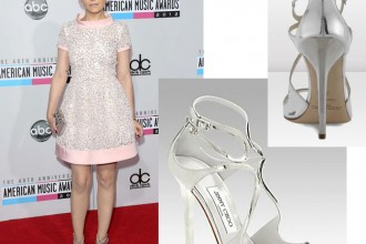 Ginnifer Goodwin in Jimmy Choo