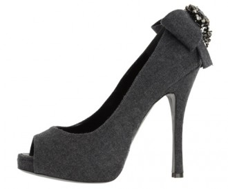 DSquared2 grey peep toes with embellished heel