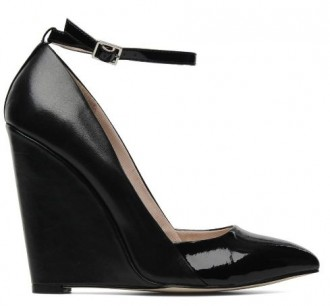 KG by Kurt Geiger black 'Crystal' wedges